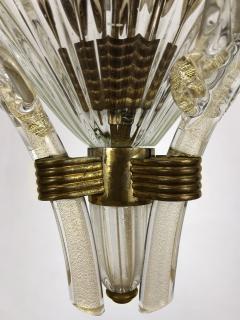 Seguso Fluted Glass Chandelier - 1282371