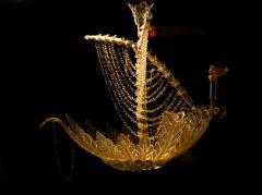 Seguso Vetri d Arte Murano galleon light by Seguso for Veronese - 1320202