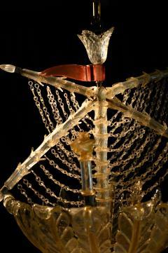 Seguso Vetri d Arte Murano galleon light by Seguso for Veronese - 1320212