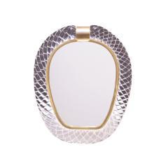 Seguso Vetri d Arte Seguso Large Hand Blown Vanity Mirror 1981 Signed  - 1433980