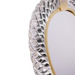 Seguso Vetri d Arte Seguso Large Hand Blown Vanity Mirror 1981 Signed  - 1433982