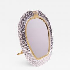Seguso Vetri d Arte Seguso Large Hand Blown Vanity Mirror 1981 Signed  - 1434340