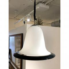 Seguso Vetri d arte Mid Century Modern Seguso Murano Glass White Black Pendant Chandelier 1960s - 1733811