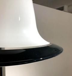 Seguso Vetri d arte Mid Century Modern Seguso Murano Glass White Black Pendant Chandelier 1960s - 1733813