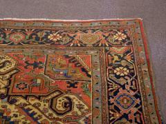 Semi Antique Room Size Heriz Rug w Serapi Colors c 1920 13 x 9 5 - 1065458