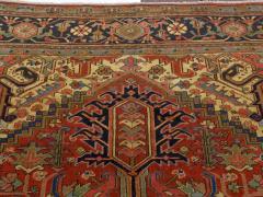 Semi Antique Room Size Heriz Rug w Serapi Colors c 1920 13 x 9 5 - 1065459