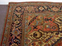 Semi Antique Room Size Heriz Rug w Serapi Colors c 1920 13 x 9 5 - 1065460