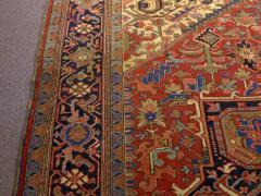 Semi Antique Room Size Heriz Rug w Serapi Colors c 1920 13 x 9 5 - 1065461