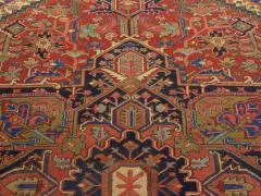 Semi Antique Room Size Heriz Rug w Serapi Colors c 1920 13 x 9 5 - 1065463
