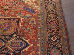 Semi Antique Room Size Heriz Rug w Serapi Colors c 1920 13 x 9 5 - 1065464