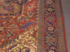 Semi Antique Room Size Heriz Rug w Serapi Colors c 1920 13 x 9 5 - 1065465