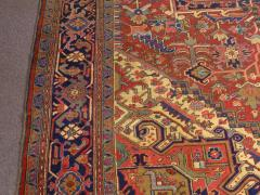 Semi Antique Room Size Heriz Rug w Serapi Colors c 1920 13 x 9 5 - 1065466