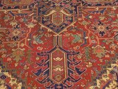 Semi Antique Room Size Heriz Rug w Serapi Colors c 1920 13 x 9 5 - 1065467