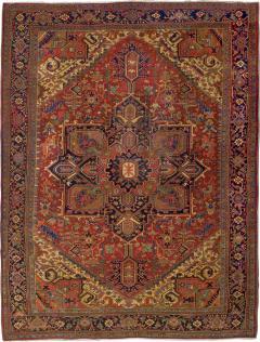 Semi Antique Room Size Heriz Rug w Serapi Colors c 1920 13 x 9 5 - 1065908