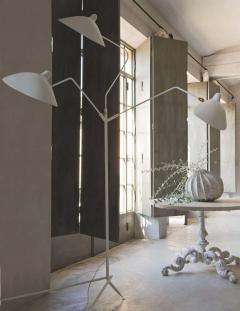 Serge Mouille Editions Serge Mouille Lampadaire 3 Bras Pivotants Floor Lamp - 1668502