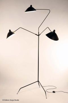 Serge Mouille Editions Serge Mouille Lampadaire 3 Bras Pivotants Floor Lamp - 1668503