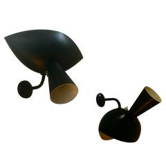 Serge Mouille Serge Mouille Genuine Rare Pair of model Cachan Sconces - 378041