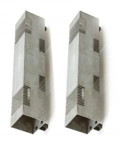 Serge Mouille Serge Mouille style pair of vintage brushed steel in vintage condition - 893168