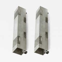 Serge Mouille Serge Mouille style pair of vintage brushed steel in vintage condition - 894652