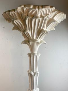 Serge Roche Exceptional Pair of Carved Wood Floor Lamps in the Manner of Serge Roche - 1225146