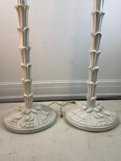 Serge Roche Exceptional Pair of Carved Wood Floor Lamps in the Manner of Serge Roche - 1225149