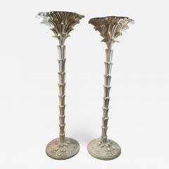 Serge Roche Exceptional Pair of Carved Wood Floor Lamps in the Manner of Serge Roche - 1225917