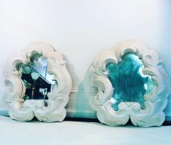 Serge Roche Fabulous Pair of Plaster Mirrors in the Manner of Serge Roche - 1074854
