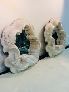 Serge Roche Fabulous Pair of Plaster Mirrors in the Manner of Serge Roche - 1074855