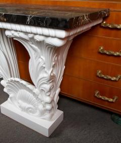 Serge Roche Great Carved Wood Console Table in the Manner of Serge Roche - 342926