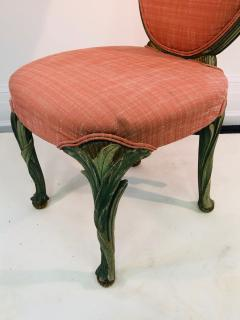 Serge Roche Set of Six Chairs with Carved Wood Frames in the Manner of Serge Roche - 1072763