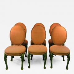 Serge Roche Set of Six Chairs with Carved Wood Frames in the Manner of Serge Roche - 1072972