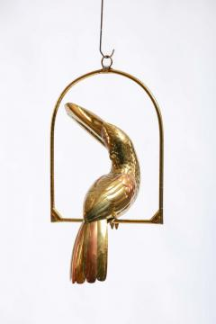 Sergio Bustamante 1970s Large Toucan Sculpture by Sergio Bustamante in Copper and Brass - 1975292