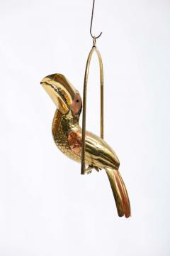 Sergio Bustamante 1970s Large Toucan Sculpture by Sergio Bustamante in Copper and Brass - 1975293