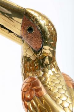 Sergio Bustamante 1970s Large Toucan Sculpture by Sergio Bustamante in Copper and Brass - 1975294