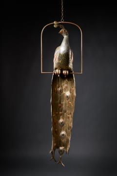 Sergio Bustamante Brass Peacock Sculpture - 1622465