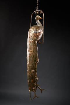 Sergio Bustamante Brass Peacock Sculpture - 1622466