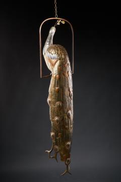 Sergio Bustamante Brass Peacock Sculpture - 1622467