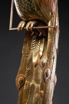 Sergio Bustamante Brass Peacock Sculpture - 1622468