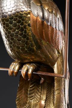 Sergio Bustamante Brass Peacock Sculpture - 1622469