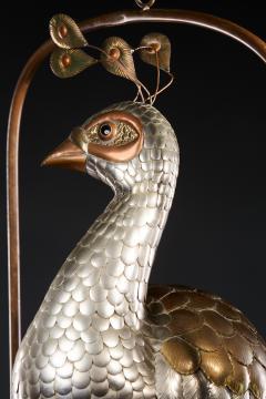 Sergio Bustamante Brass Peacock Sculpture - 1622470