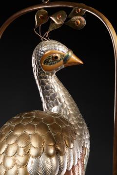 Sergio Bustamante Brass Peacock Sculpture - 1622471