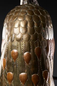 Sergio Bustamante Brass Peacock Sculpture - 1622472