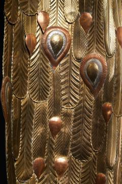 Sergio Bustamante Brass Peacock Sculpture - 1622473