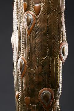 Sergio Bustamante Brass Peacock Sculpture - 1622474