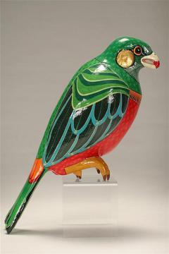 Sergio Bustamante Editioned Hanging Parrot Sculpture Sergio Bustamante - 74328
