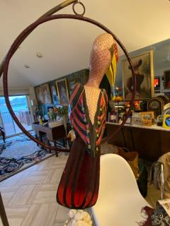 Sergio Bustamante LIFESIZE HORNBILL TOUCAN IN RING HANGING SCULPTURE - 1984764