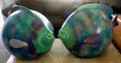 Sergio Bustamante Pair of Signed Ceramic Fish Sculpture by Mexican Artist Sergio Bustamante - 1748158