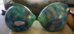 Sergio Bustamante Pair of Signed Ceramic Fish Sculpture by Mexican Artist Sergio Bustamante - 1748159