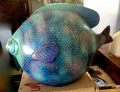 Sergio Bustamante Pair of Signed Ceramic Fish Sculpture by Mexican Artist Sergio Bustamante - 1748160