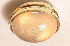 Sergio Mazza 1960s Sergio Mazza Brass Sigma Wall or Ceiling Lights for Artemide - 909654